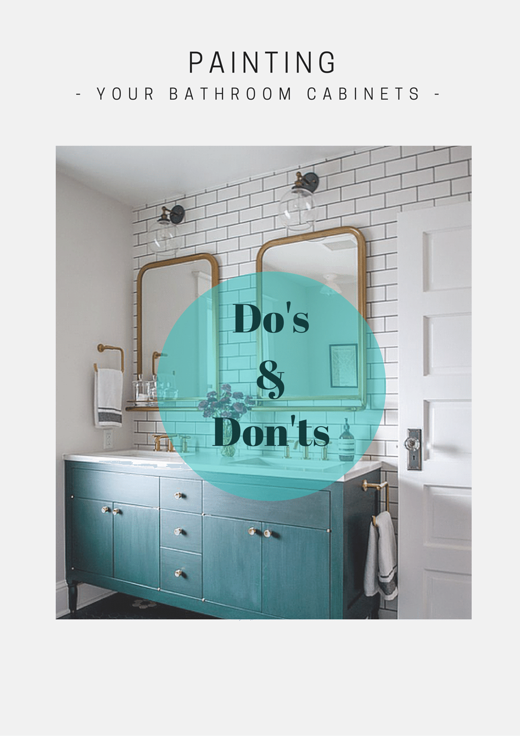 If your bathroom cabinets are old, ugly, tired, or all of the above, you've probably thought about painting them more than a few times.