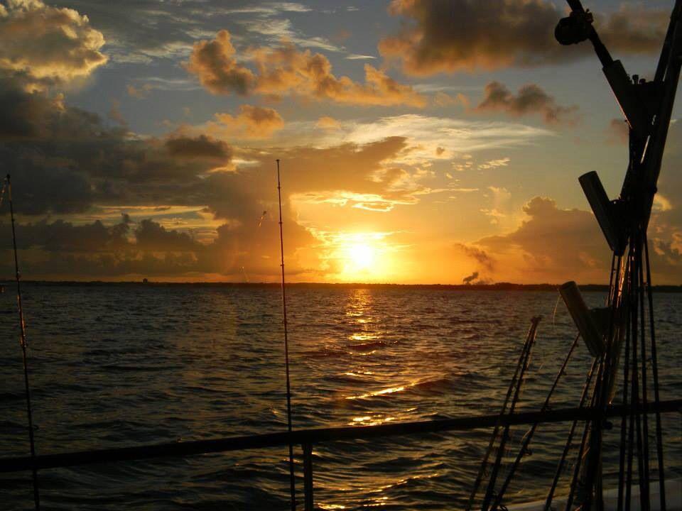 Sunrise on Gulf of Mexico.
