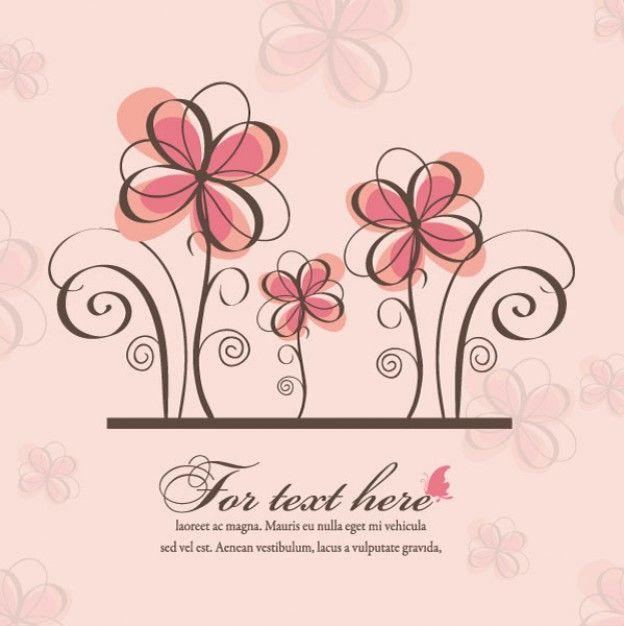 Vector De La Primavera De Flores De Fondo Descargar Vectores