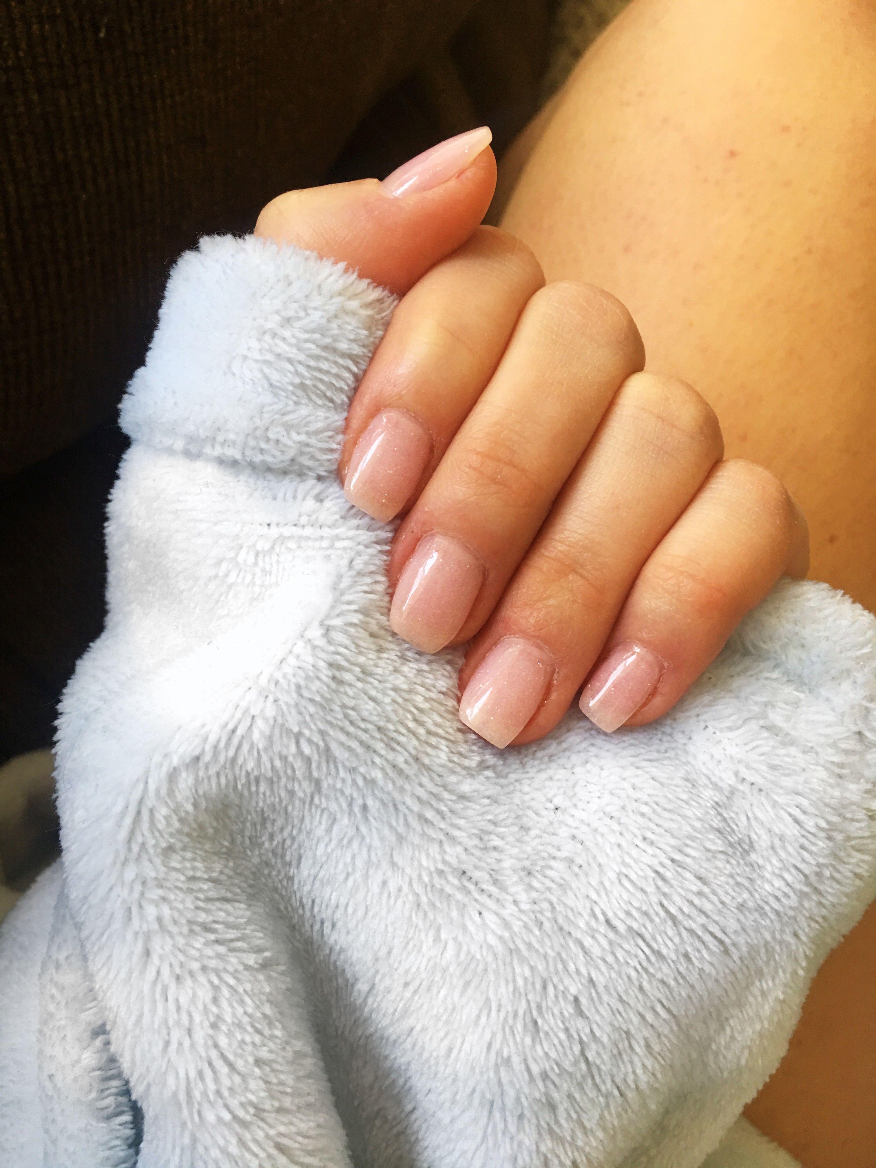 Clear Glitter Dip Powder Nails