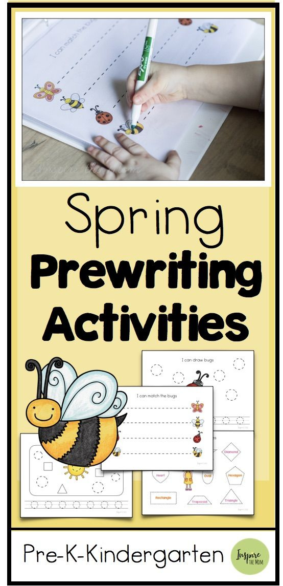 Spring Themed Prewriting and Shape Activities - Inspire the Mom An awesome packet of Spring Themed
