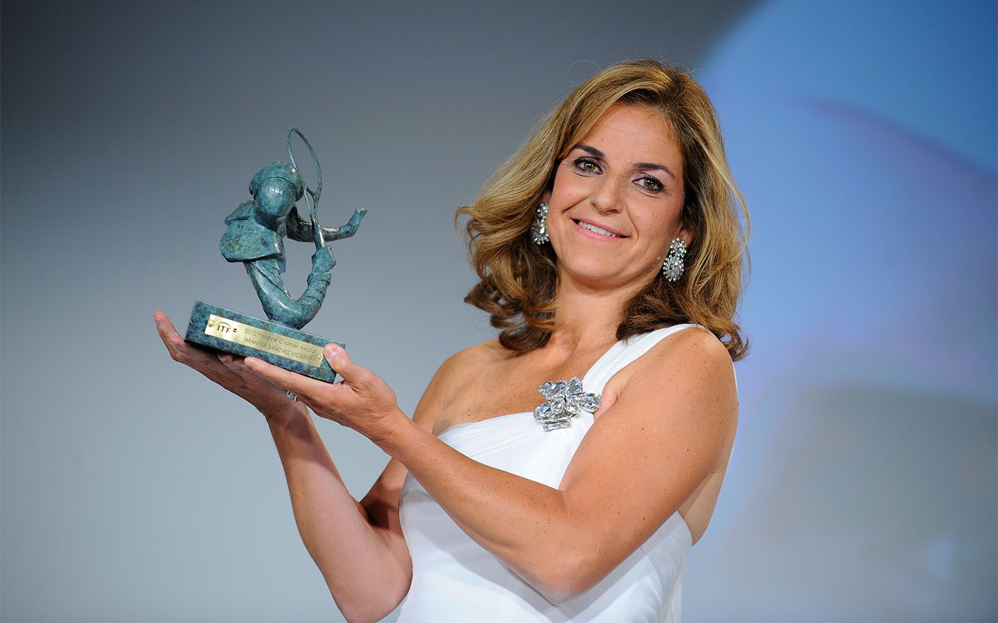 Arantxa Sánchez Vicario took home the Philippe Chatrier award at