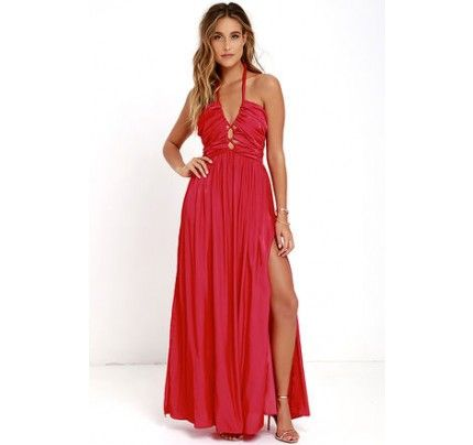 Maximum Magnificence Red Maxi Dress | Shop @ CollectiveStyles.com