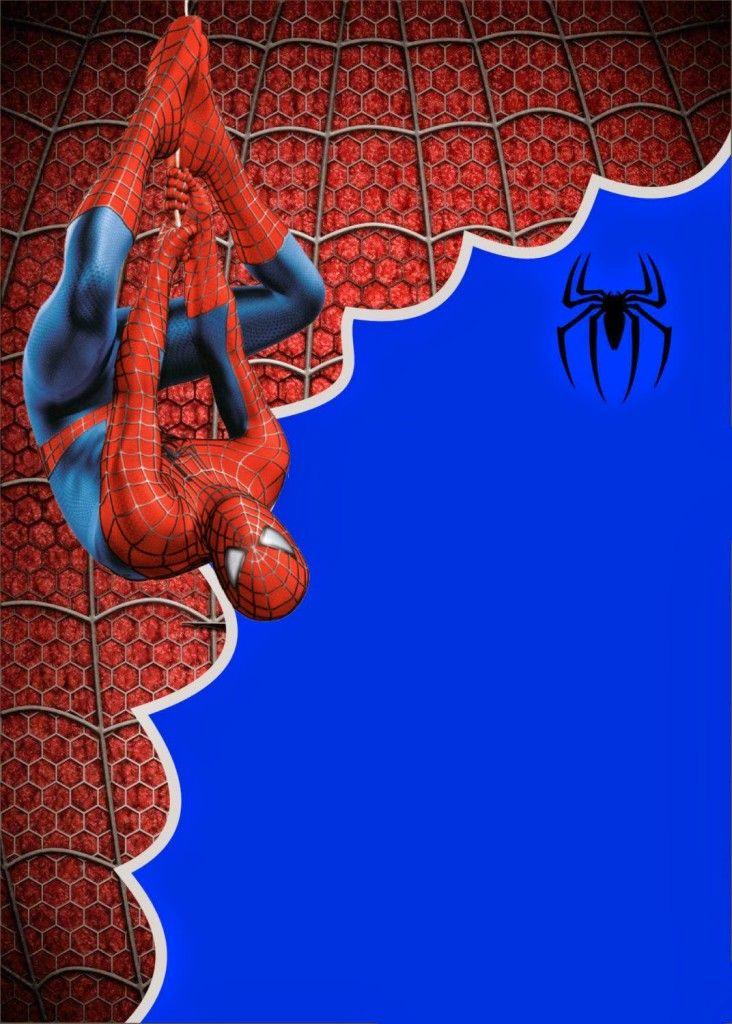 Convite Homem Aranha Grátis Modelos Para Imprimir Niver Arthur 4