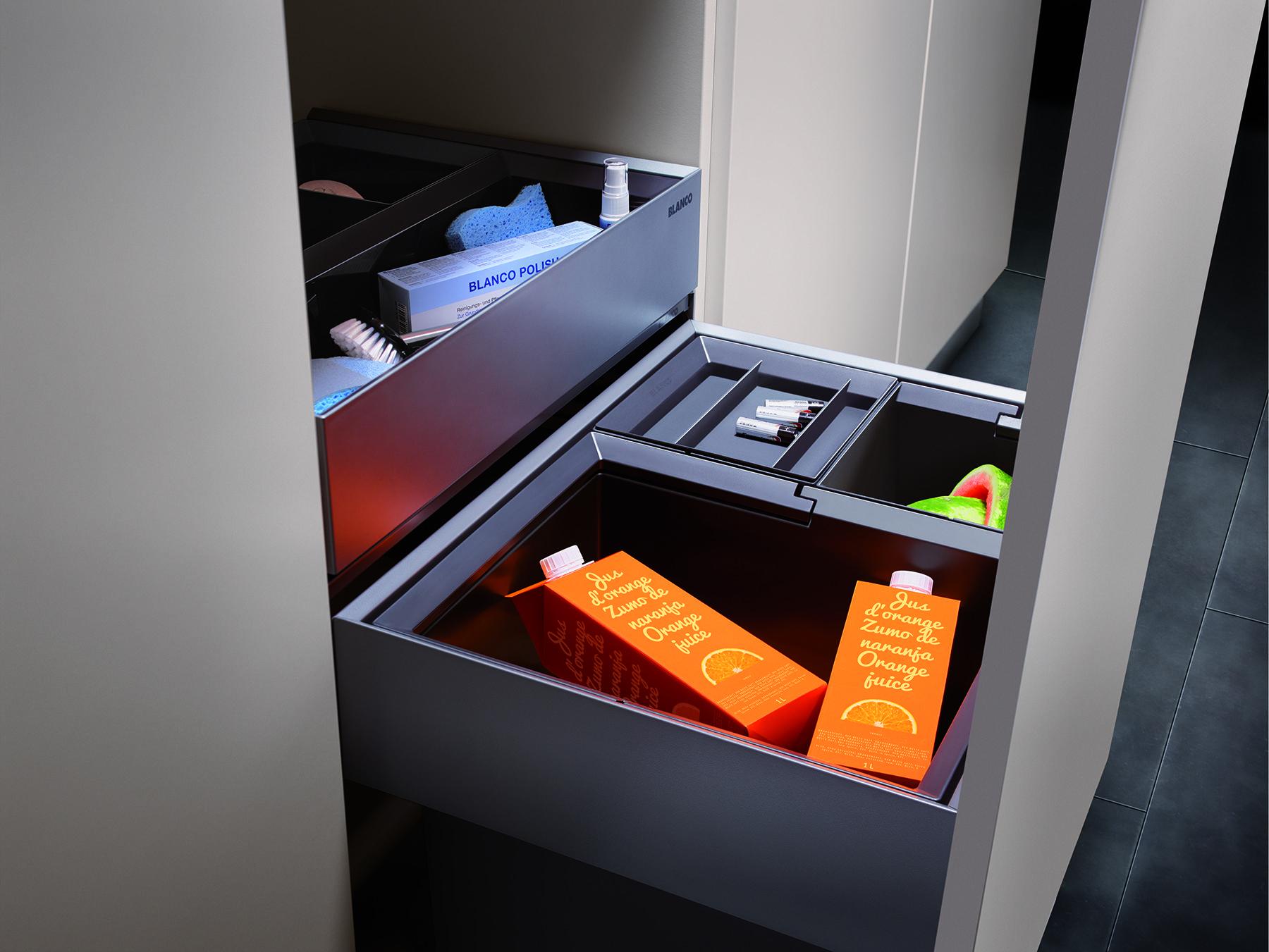 blanco select xl 60 3 orga sistema de selecci n de desperdicios para armarios de 60 cm con caj. Black Bedroom Furniture Sets. Home Design Ideas