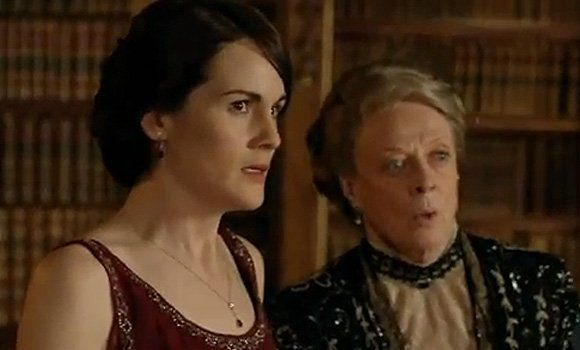 """Violet never did much like newspaper mogul Richard - and she wasn't the only one pleased to see the back of him! We don't know about you, but it pretty much made our Christmas...    DOWAGER COUNTESS """"Well, what on earth's the matter?""""    RICHARD """"I'm leaving in the morning Lady Grantham. I doubt we'll meet again.""""    DOWAGER COUNTESS """"Do you promise?"""""""