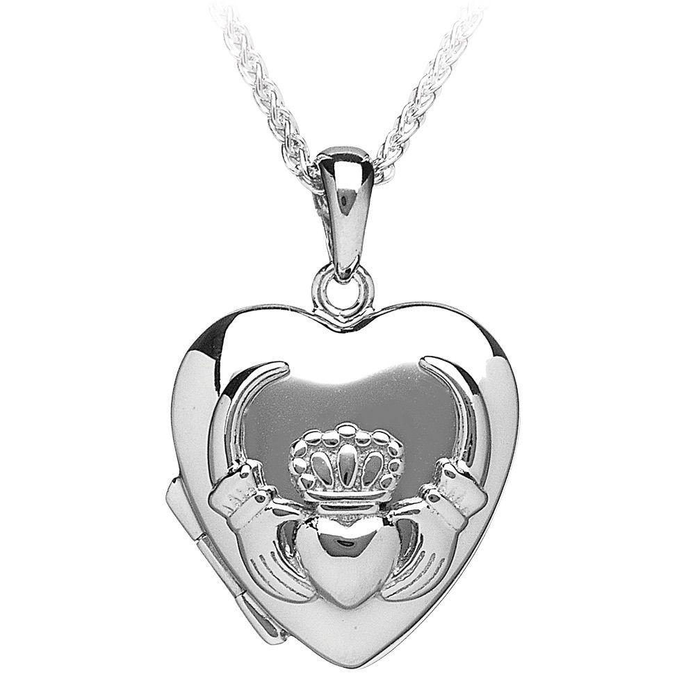 Claddagh Sterling Silver Oval locket