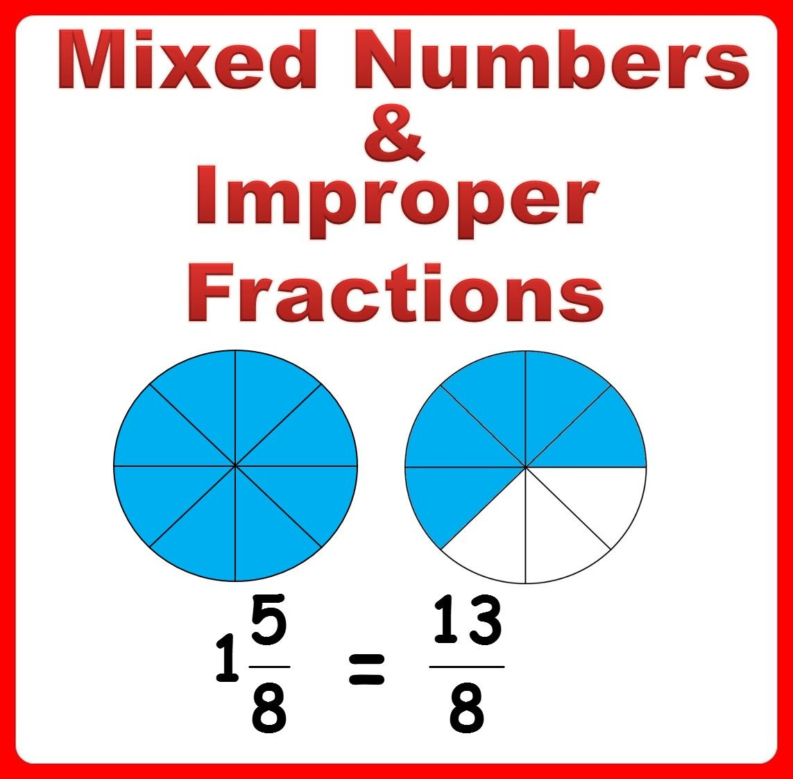 No Prep Worksheets To Practice And Understand Mixed Numbers And Improper Fractions Fractions Worksheets Improper Fractions Fractions