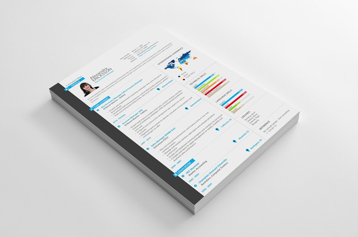 Key Accounts Manager Resume Available in 4 great colors