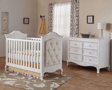 Pali Diamante Collection 2 Piece Nursery Set Classic Crib And Double Dresser With Images White Crib Bedding