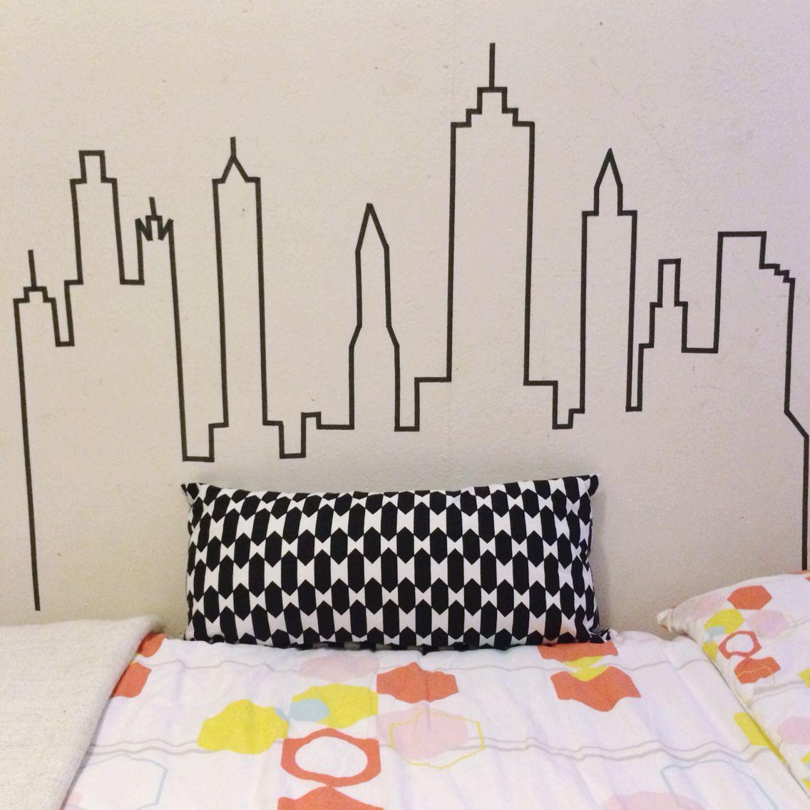 Skyline with washi tape | Boys rooms | Pinterest | Ideas para ...