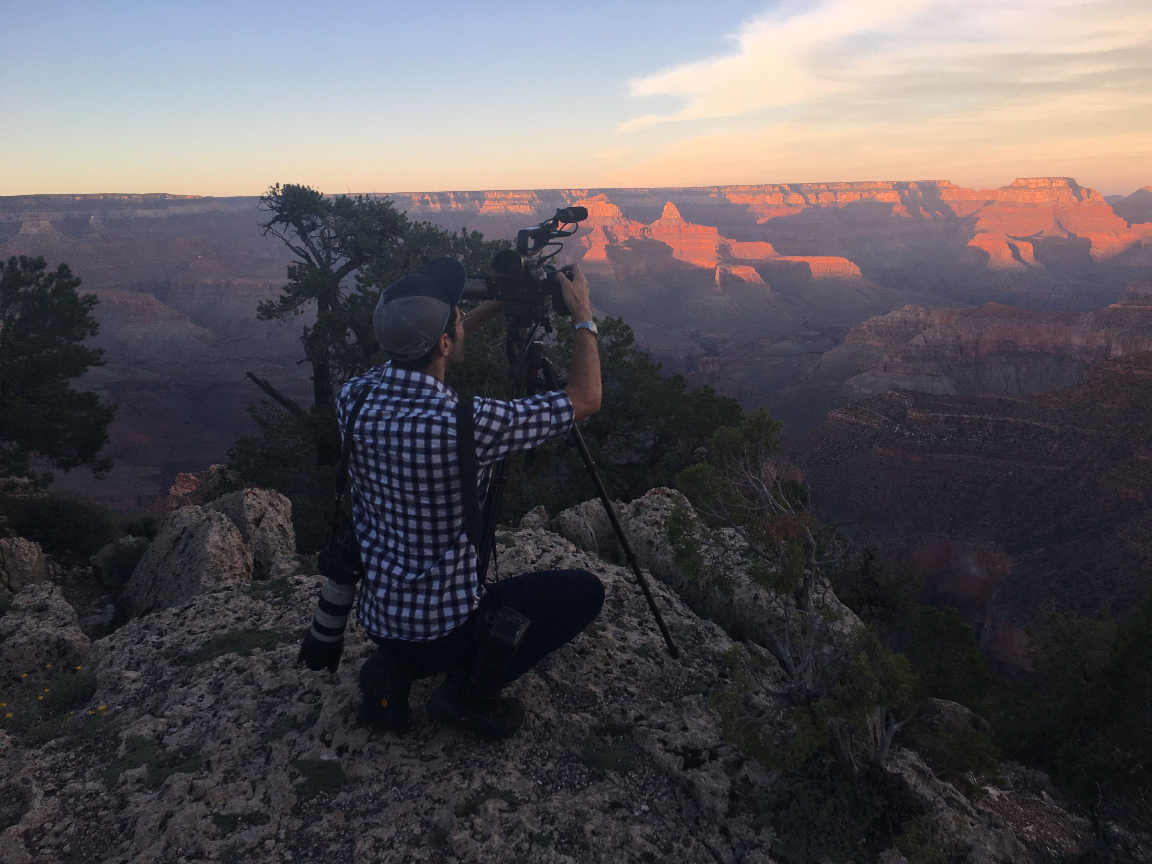 With photographer Tamir Kalifa, on assignment at the Grand Canyon. September 2016