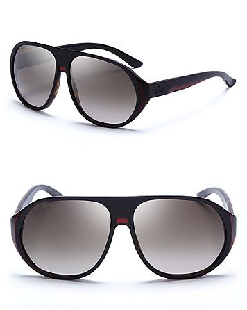 Gucci Acetate Shield Sunglasses | Bloomingdale's