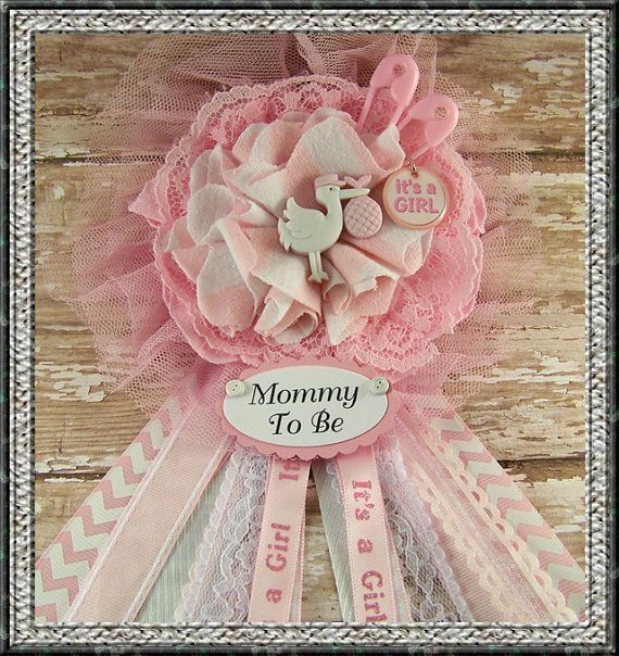 its a girl mommy to be corsage baby shower by