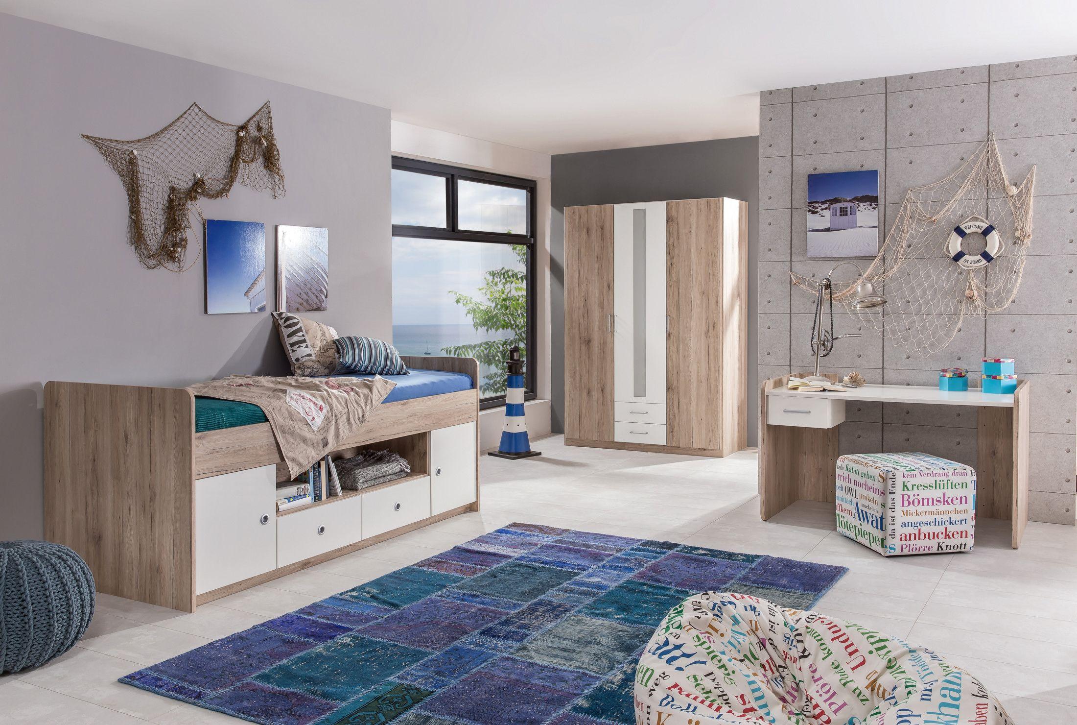 Künstlerisch Bett Jugendzimmer Sammlung Von Mit 90 X 200 Cm Eiche Sanremo/