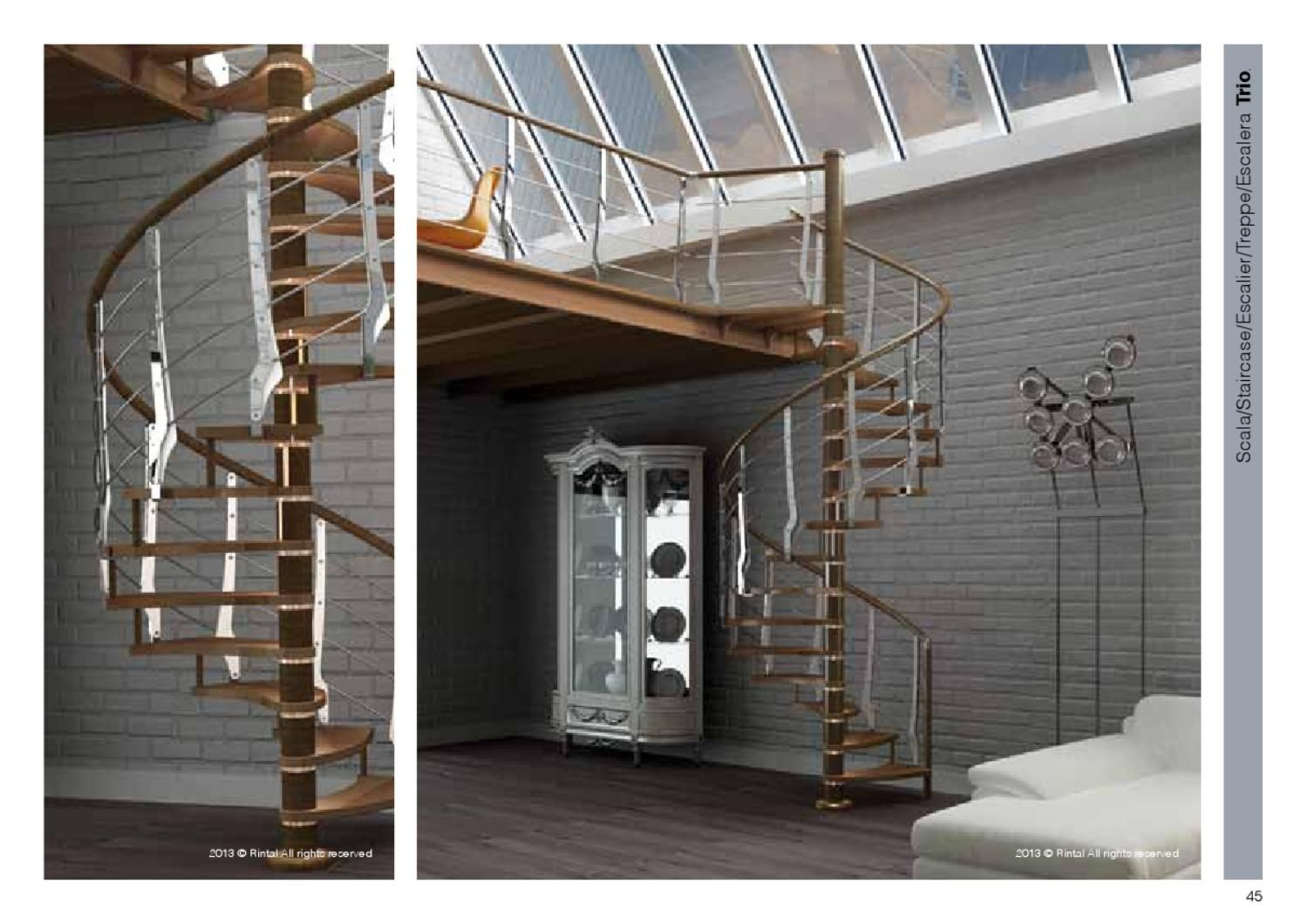 Modern spiral staircase and railing