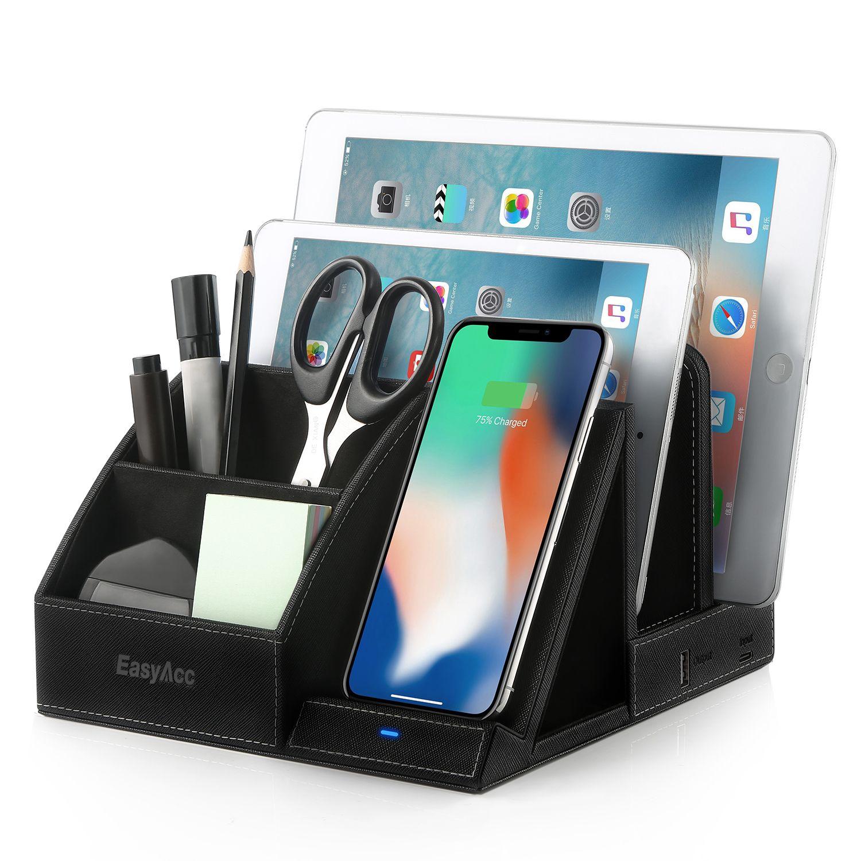Easyacc wireless charger desk stand organizer wireless