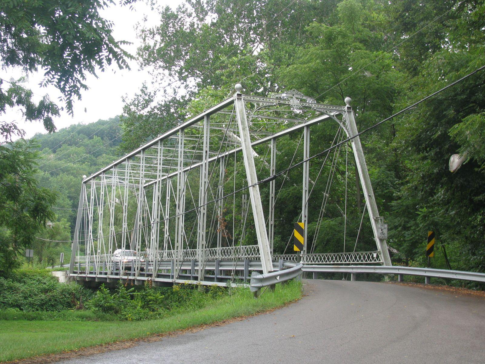 Ohio columbiana county rogers - Negley Bridge Columbiana County Ohio Built 1882 Through Truss Bridge Over North Fork