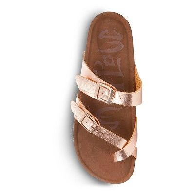 c8530add5e2 Women s Mad Love Prudence Footbed Sandals - Rose Gold 11