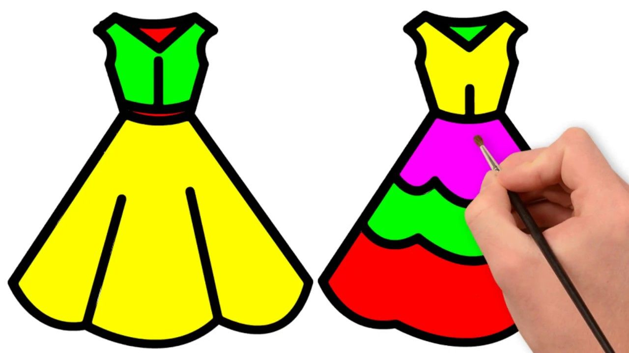 How to Draw Dress for Kids