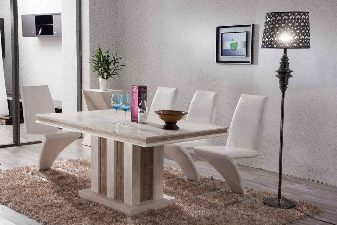 White Stone Dining Table Stone Dining Table Modern Dining Room
