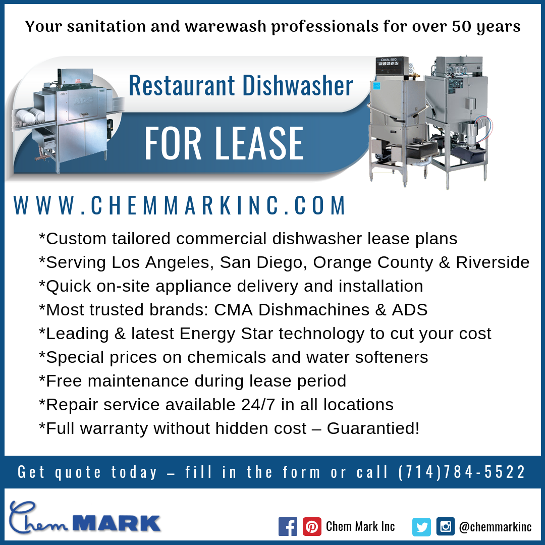 Once A Chem Mark Customer You Receive Regular Scheduled Service And Emergency Service 24 Hours A Da Appliance Delivery Commercial Dishwasher Emergency Service