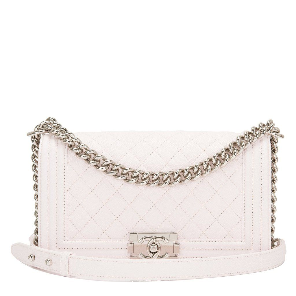 156fb9237e80 Chanel White Caviar Quilted Medium Boy Bag. More information. Saved from. Madison  Avenue Couture
