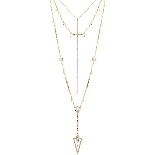 House Of Harlow South Point Layered Necklace in Metallic Gold USk5NZNJi