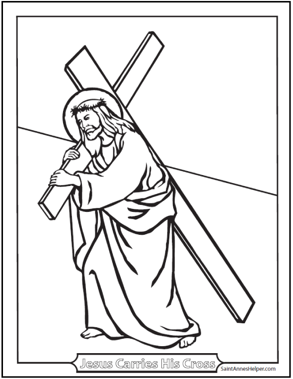 40 Rosary Coloring Pages The Mysteries Of Cross PicturesImages