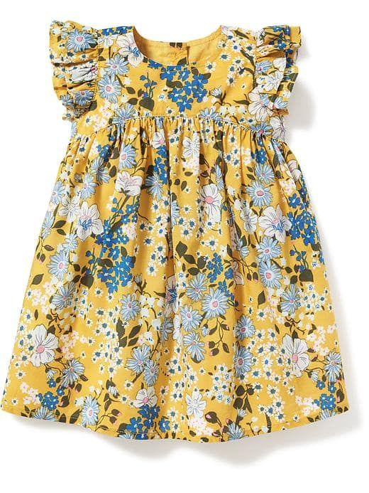 Floral-Print Flutter-Sleeve Dress for Baby | Old Navy | Clothes ...