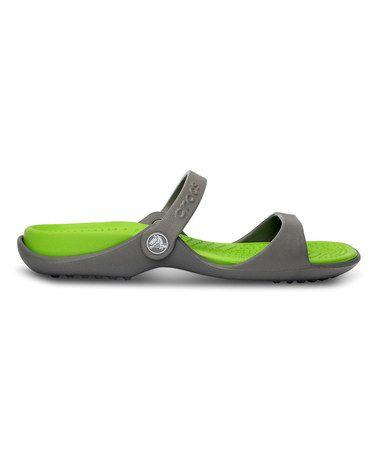 Crocs Smoke \u0026 Volt Green Cleo Sandal