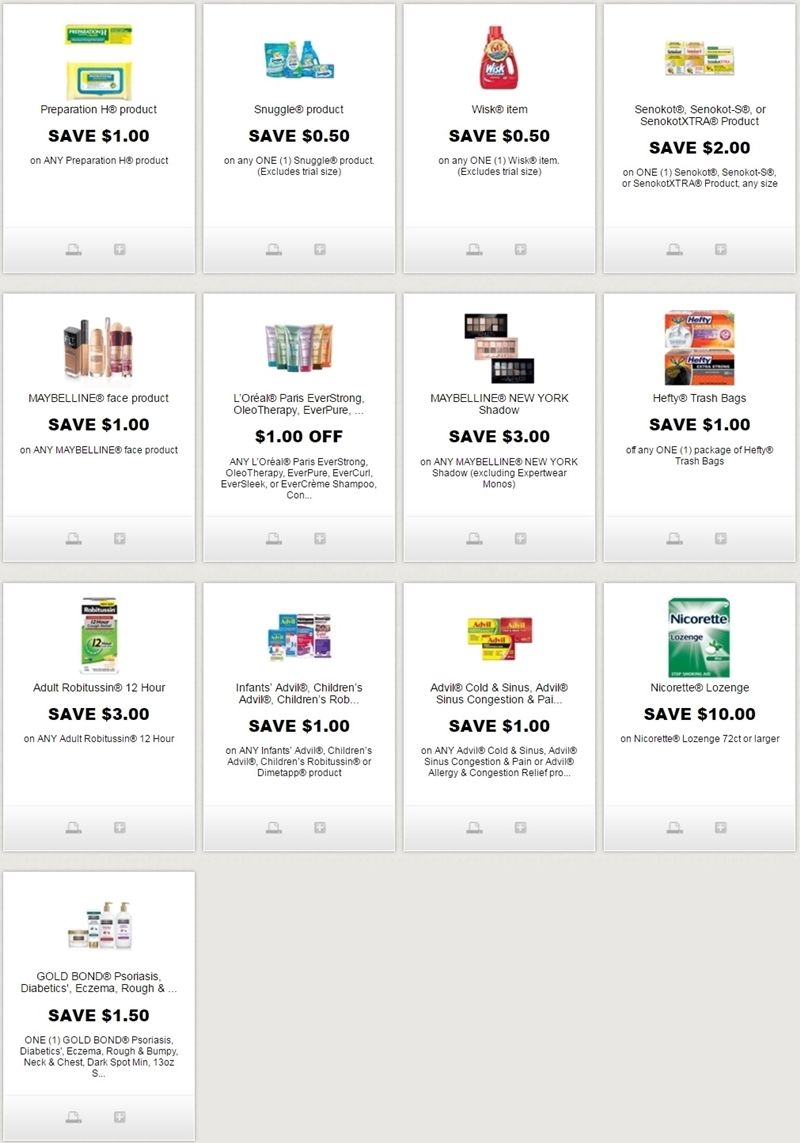 new printable coupons for maybelline, robitussin, l'oreal, & more