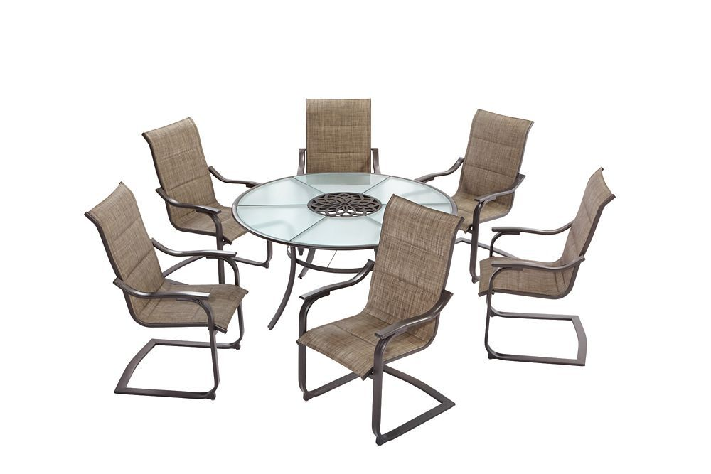 c spring patio chairs bedroom chair red st lucia 7 piece padded sling dining set products