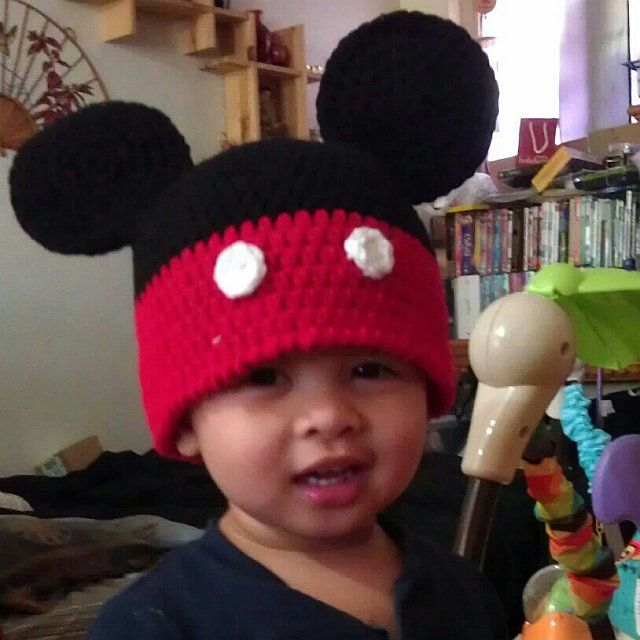 Michael's Mickey Mouse hat