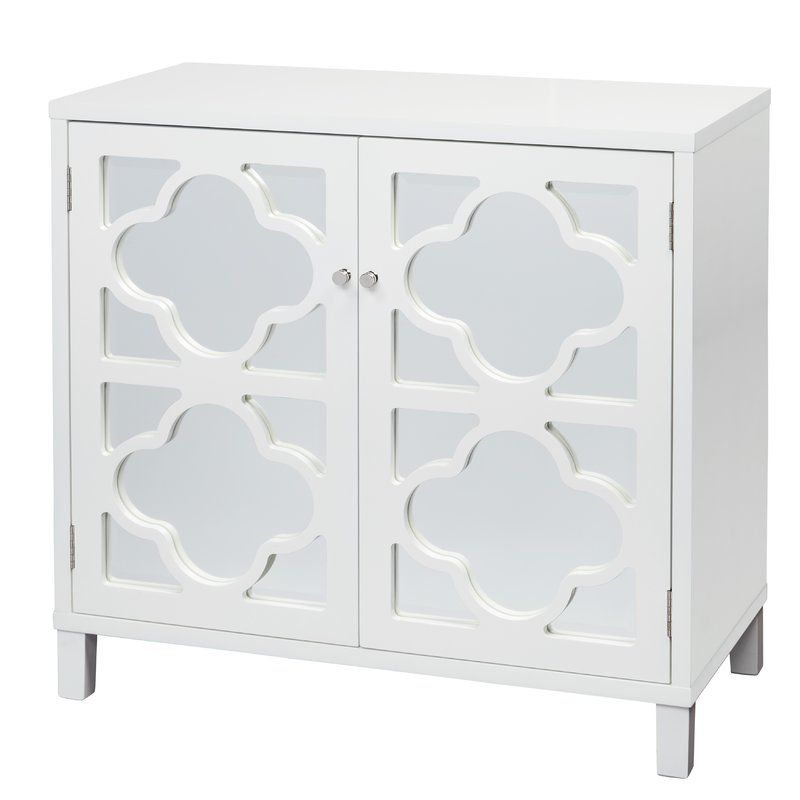 Musselwhite 2 Door Mirrored Accent Cabinet Mirror Cabinets Accent Cabinet Side Cabinet
