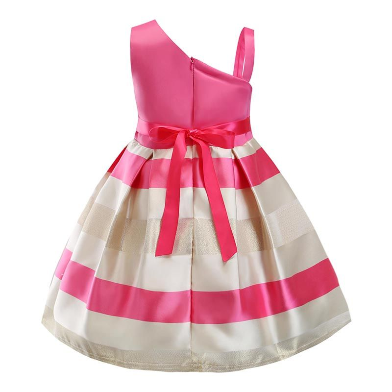 Baby Girls Flower Striped Dress For Girls Unicorn Wedding Party Dresses Kids Princess Christmas Dress Children Girls Clothing #babygirlpartydresses