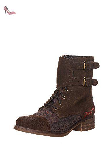 Desigual 6044 Eu 36 Bufff Marron Femme Boots Chaussures qYUwTgrIYx