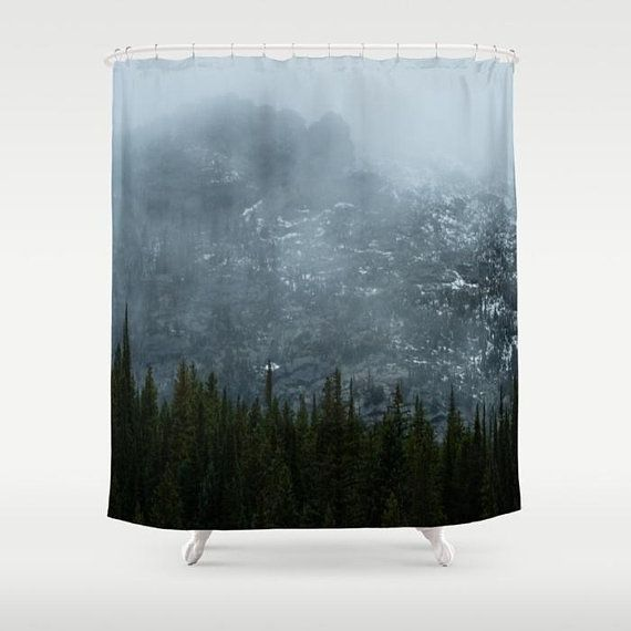 Mountain Shower Curtain Nature Photography, Foggy Mountain, Nature Bathroom  Decor Rustic, Mountain Home Decor Bathroom, Colorado Decor | Large Prints,  ...
