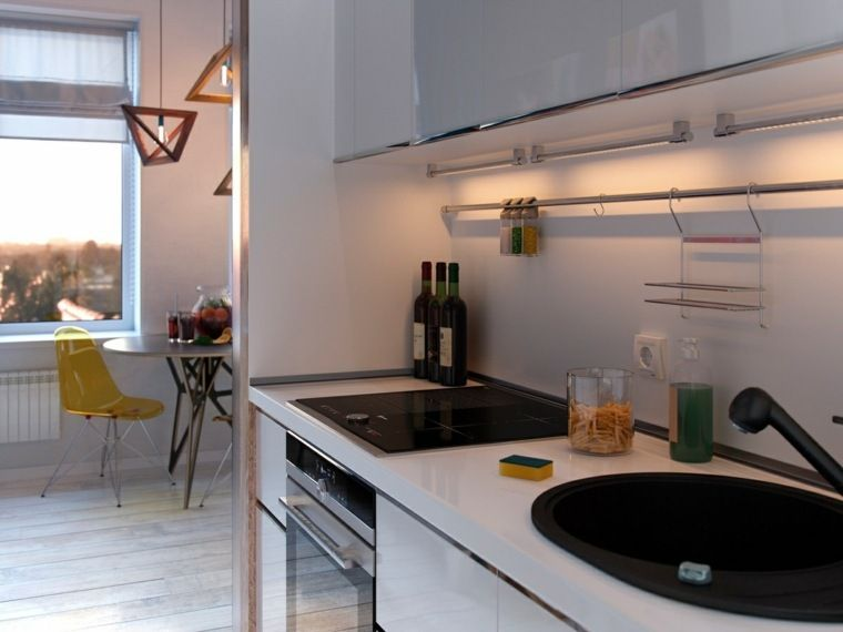 Klein appartement decoratie drie moderne interieurs kleine flat