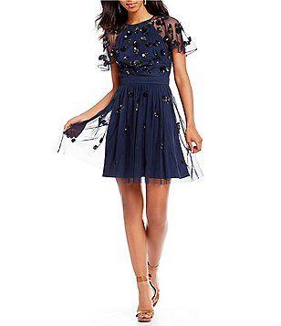 bc412c4e24a Gianni Bini Sandra Beaded Tulle Dress