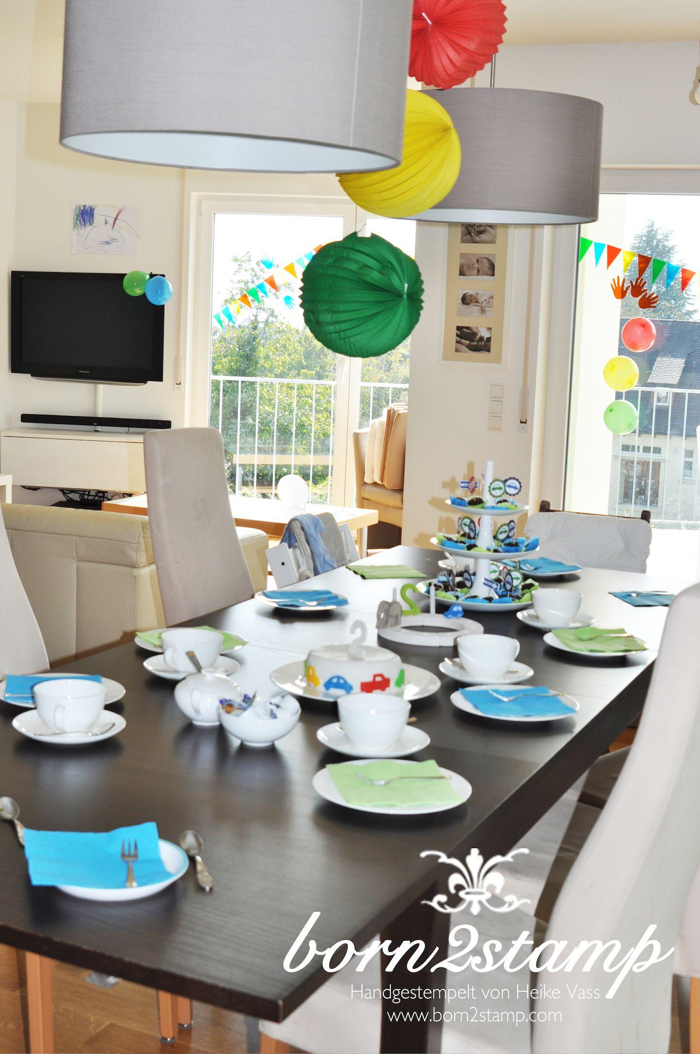 auto party geburtstag birthday car theme tischdeko geburtstagstisch birthday table decoration. Black Bedroom Furniture Sets. Home Design Ideas