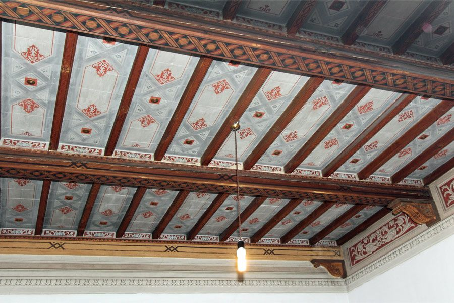 An example of frescoed ceiling in the city of #Siena. Learn more and see all the pictures: http://sil.it/1001/Cerca-nel-sito.htm?codice=4881