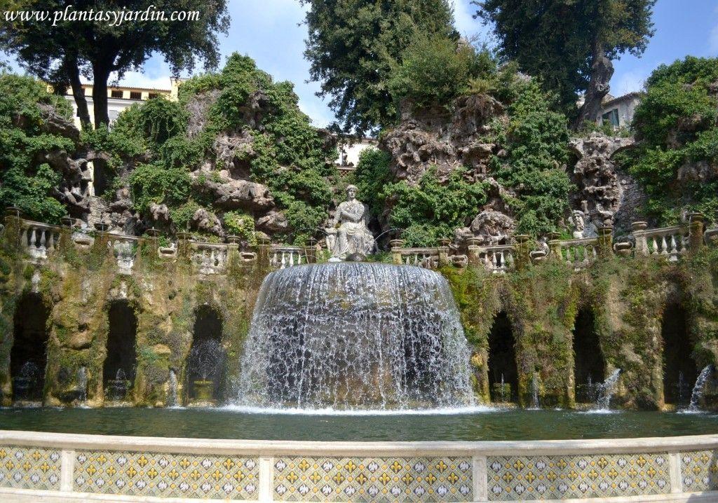 Fuente De Tivoli O Del Ovario En Villa D Este Jardines Manieristas