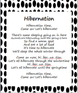Stepping into First Grade Hibernation poem to the song