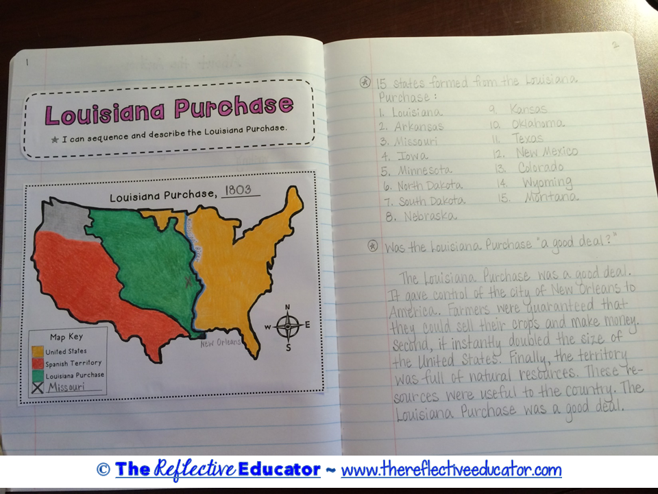 Louisiana Purchase Louisiana Purchase Social Studies And - Louisiana purchase and western exploration us history map activities