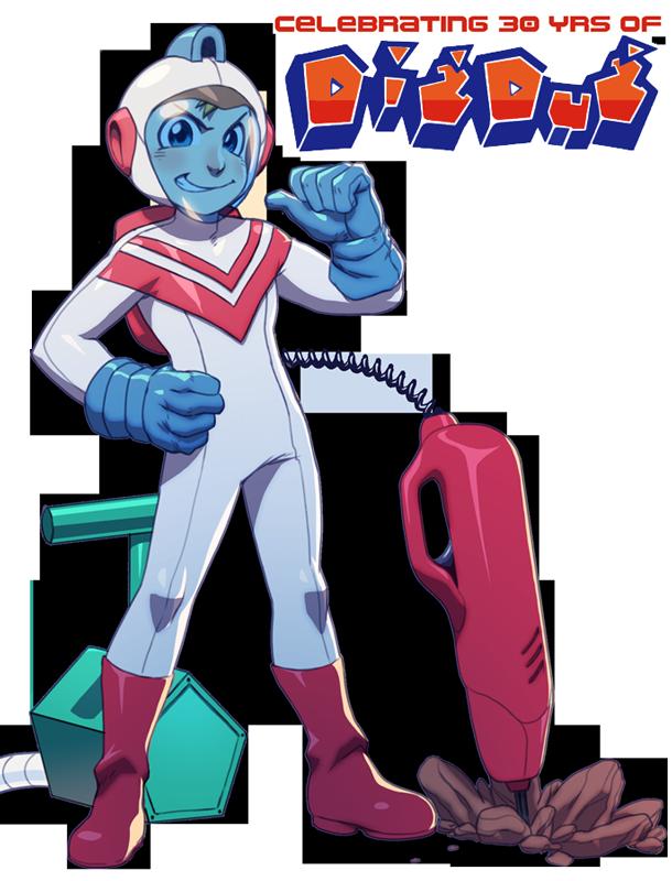 Dig Dug S 30th By Robaato Dig Nintendo Nes Bandai