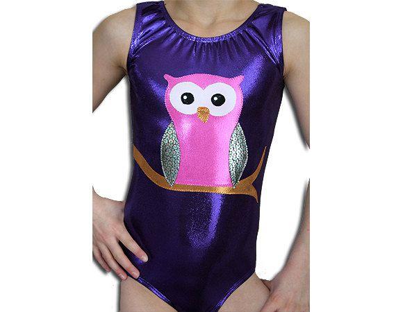 Gymnastics Leotards Girls Purple Mystique OWL by AEROLeotards