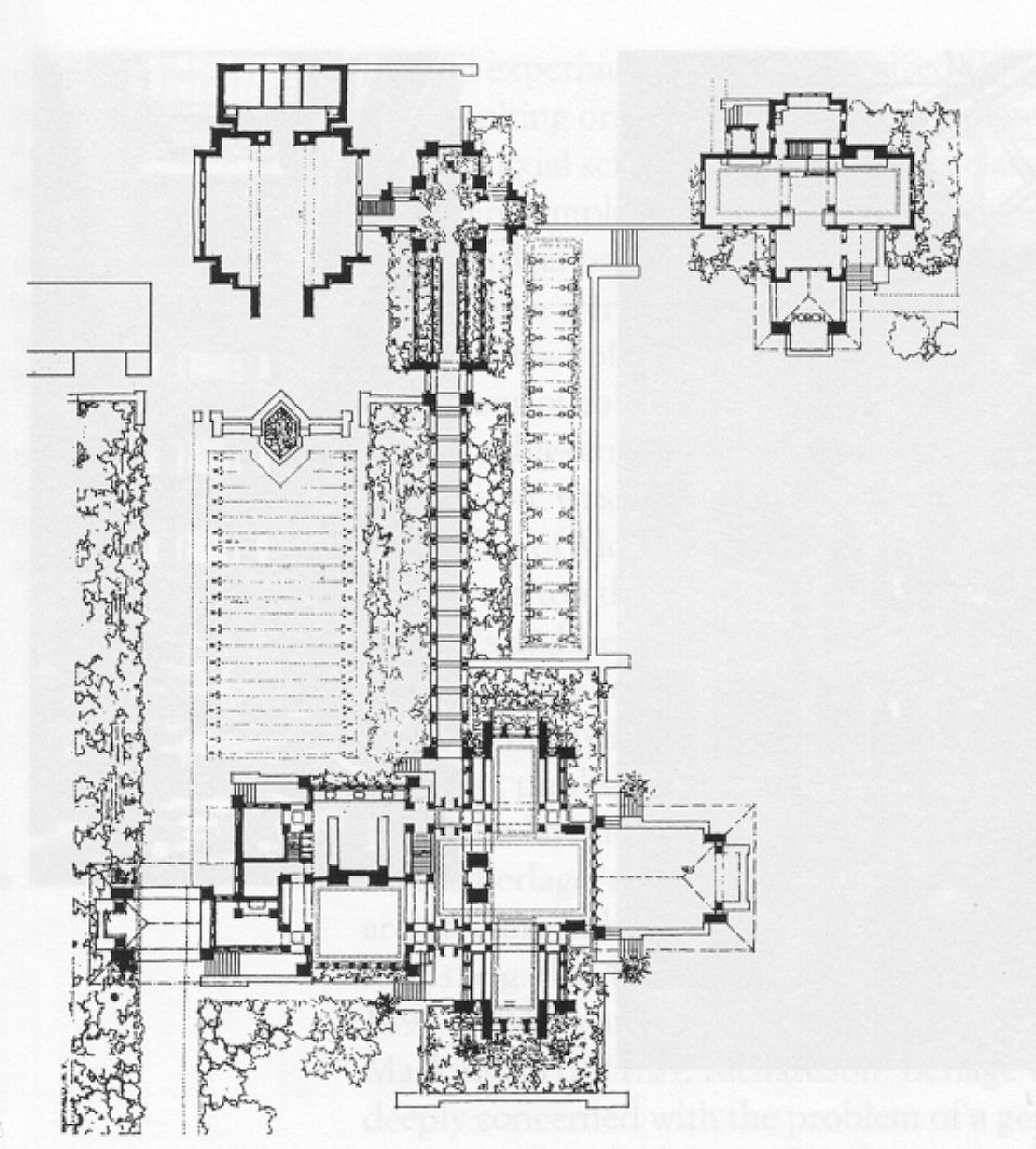 fllw, darwin martin house, plan | arts & crafts houses | pinterest