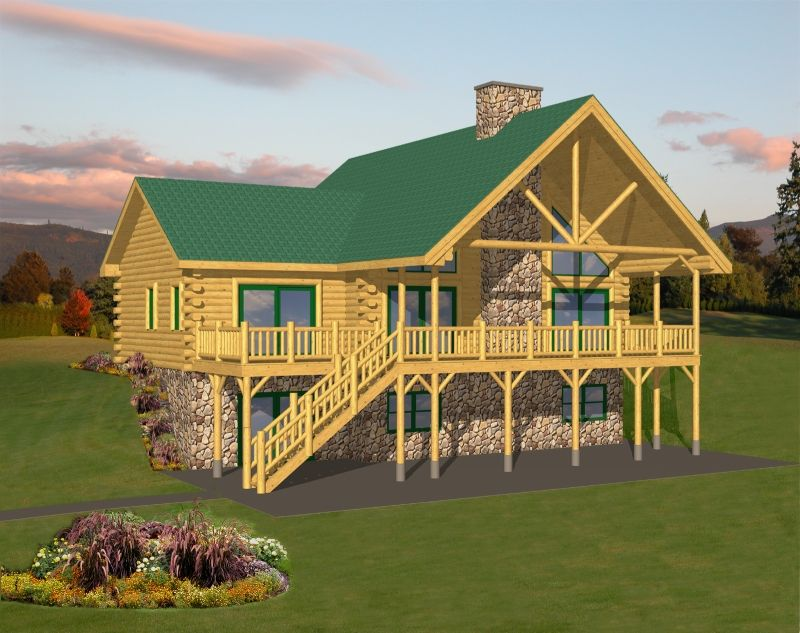 Pine Valley Log Home Plan by Expedition Log Homes   Log ...