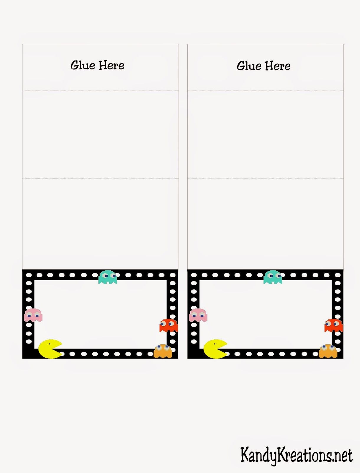PacMan Arcade Table Card Printable | pacman party | Pinterest ...
